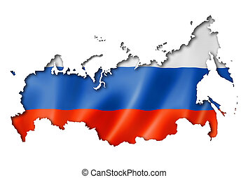 Russian flag map - Russia flag map, three dimensional...