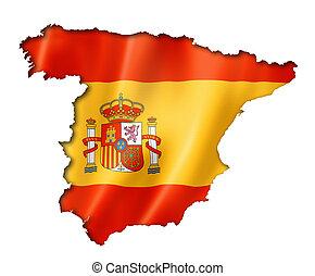 地図, 旗, スペイン語