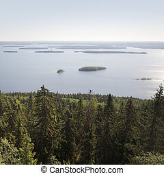 Finnish landscape - Lake Pielinen photographed in Koli...