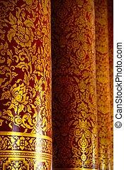 dourado, pilares