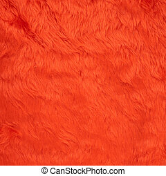 Faux fur texture background - Colored red faux fur texture...