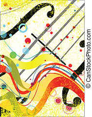 Violin Poster - Violin closeup set on a jazz grunge...