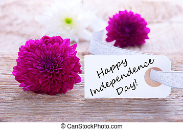 Flowers with Happy Independence Day