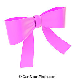 Decorational ribbon bow isolated