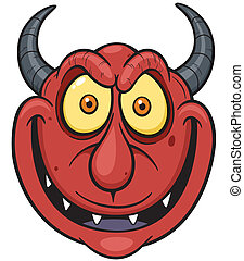 Devil face - Vector illustration of devil face