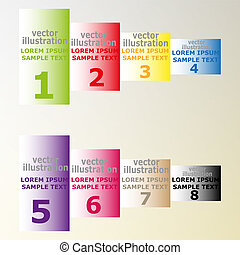 banners with text for web design vector illustration