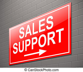 Sales support concept.
