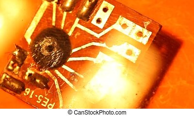Circuitboard - Close up of an electroniccircuitboard