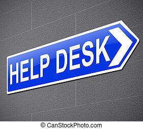 Help desk concept.