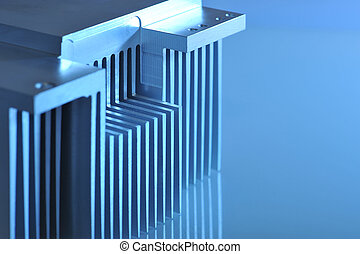 aluminio, enfriamiento, placa