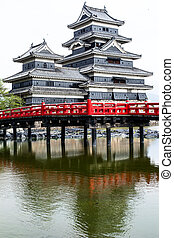 Beautiful medieval castle Matsumoto in the eastern Honshu,...
