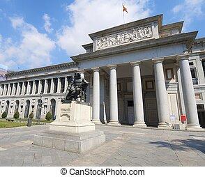 Prado Museum - west access in the Prado Museum, Madrid,...