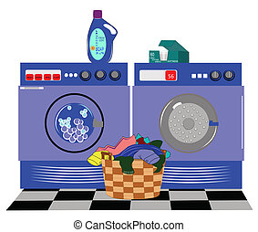 laundry machines - modern day laundry machines with details...