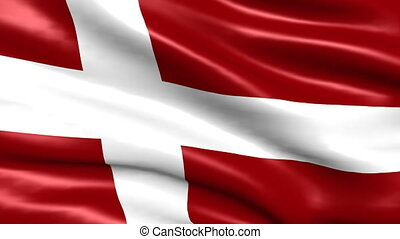 Flag Of Denmark Looping Background - National flag of...