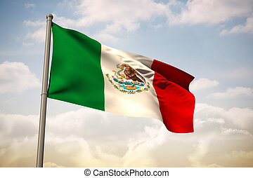 Composite image of mexico national flag - Mexico national...