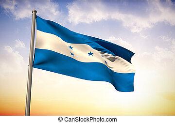 Composite image of honduras national flag - Honduras...