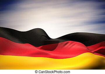 Composite image of germany flag waving - Germany flag waving...