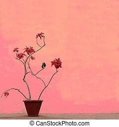Nature art background - A beautiful pink nature art...