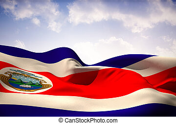 Composite image of costa rica flag waving - Costa rica flag...
