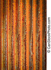 Rusty corrugated iron metal fence Zinc wall texture...