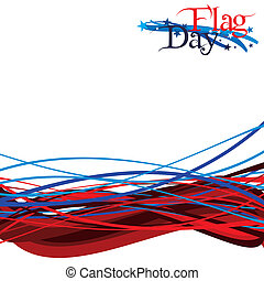 Flag Day - An abstract illustration of Flag Day, United...