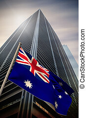 Composite image of australia national flag - Australia...