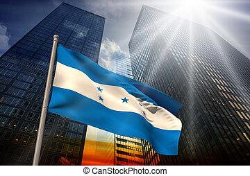 compuesto, imagen, honduras, nacional, bandera