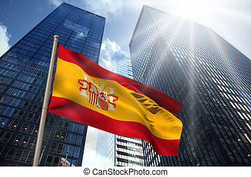 Composite image of spain national flag - Spain national flag...