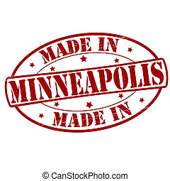 Made in Minneapolis - Stamp with text made in Minneapolis...