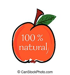 peach natural color vector illustration