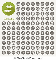 ecology icons set , eps10 vector format