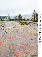 Rock carvings at Alta, Norway