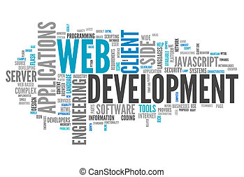 Word Cloud Web Development - Word Cloud with Web Development...