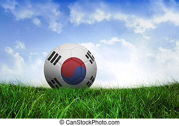 Composite image of football in south korea colours -...