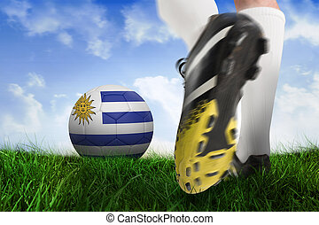 Pelota,  Uruguay, compuesto, imagen, fútbol, bota, patear