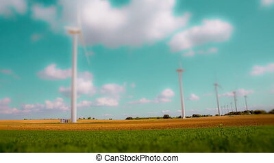 Wind turbines loopable - Loopable Modern Wind turbines large...