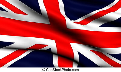 Flag United Kingdom looping backgro - National flag of UK...