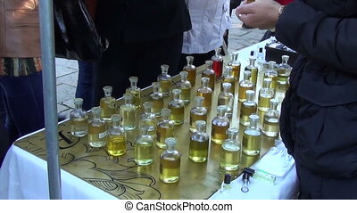 scent bottle table oil