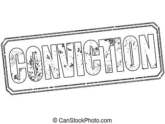 conviction stamp - conviction grunge stamp with on vector...