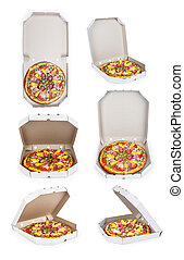 collection of pizzas