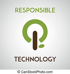 responsible technology - Illustration depicting responsible...