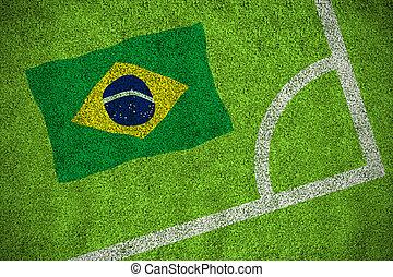 compuesto, imagen, bandera,  brasil, nacional