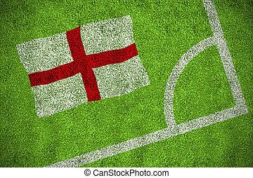 Composite image of england flag - England flag against...