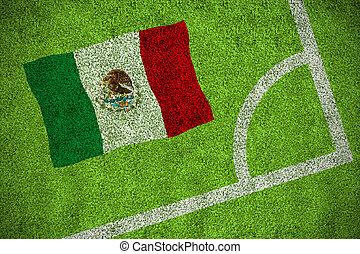 compuesto, imagen, bandera, nacional,  México
