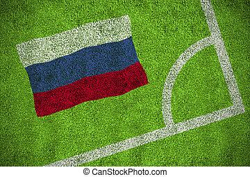 compuesto, imagen, bandera, nacional, Rusia