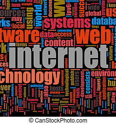 Internet Technology Tag Cloud Creative Background