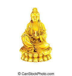 Kwan Yin the Goddess of Mercy Old Sculpture
