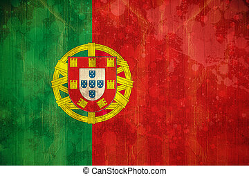 Portugal flag in grunge effect - Digitally generated...