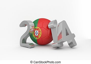 Portugal world cup 2014 on white background