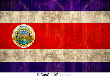 Costa rica flag in grunge effect - Digitally generated costa...